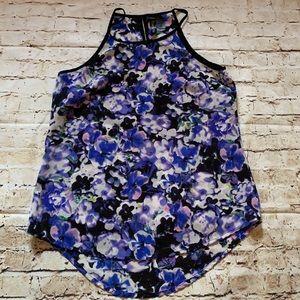 Sheer floral tank top